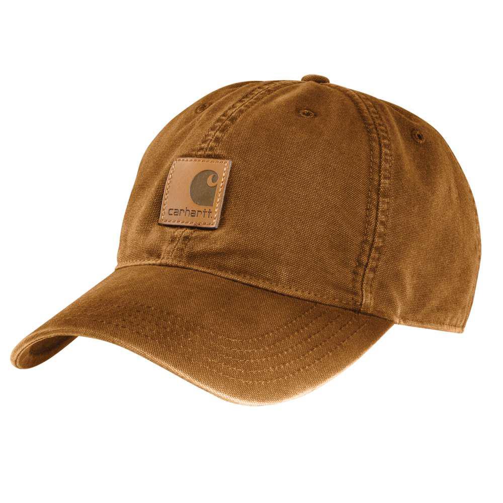 9137699e944 Carhartt Men s OFA Army Green Acrylic Knit Hat with Visor-A164-ARG ...