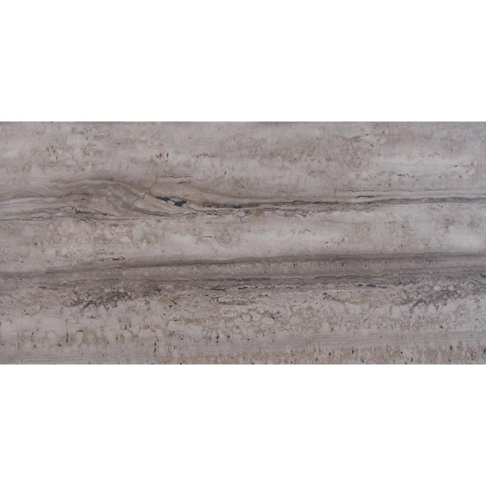 MSI Porto Gray 12 in. x 24 in. Glazed Ceramic Floor and Wall Tile (2 ...