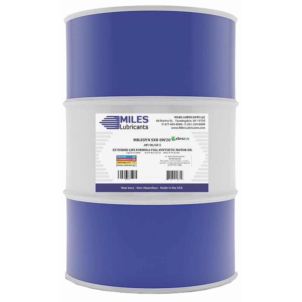Milesyn SXR 0W20 API GF-5/SN, Dexos1, 55 Gal. Full Synthetic Motor Oil Drum