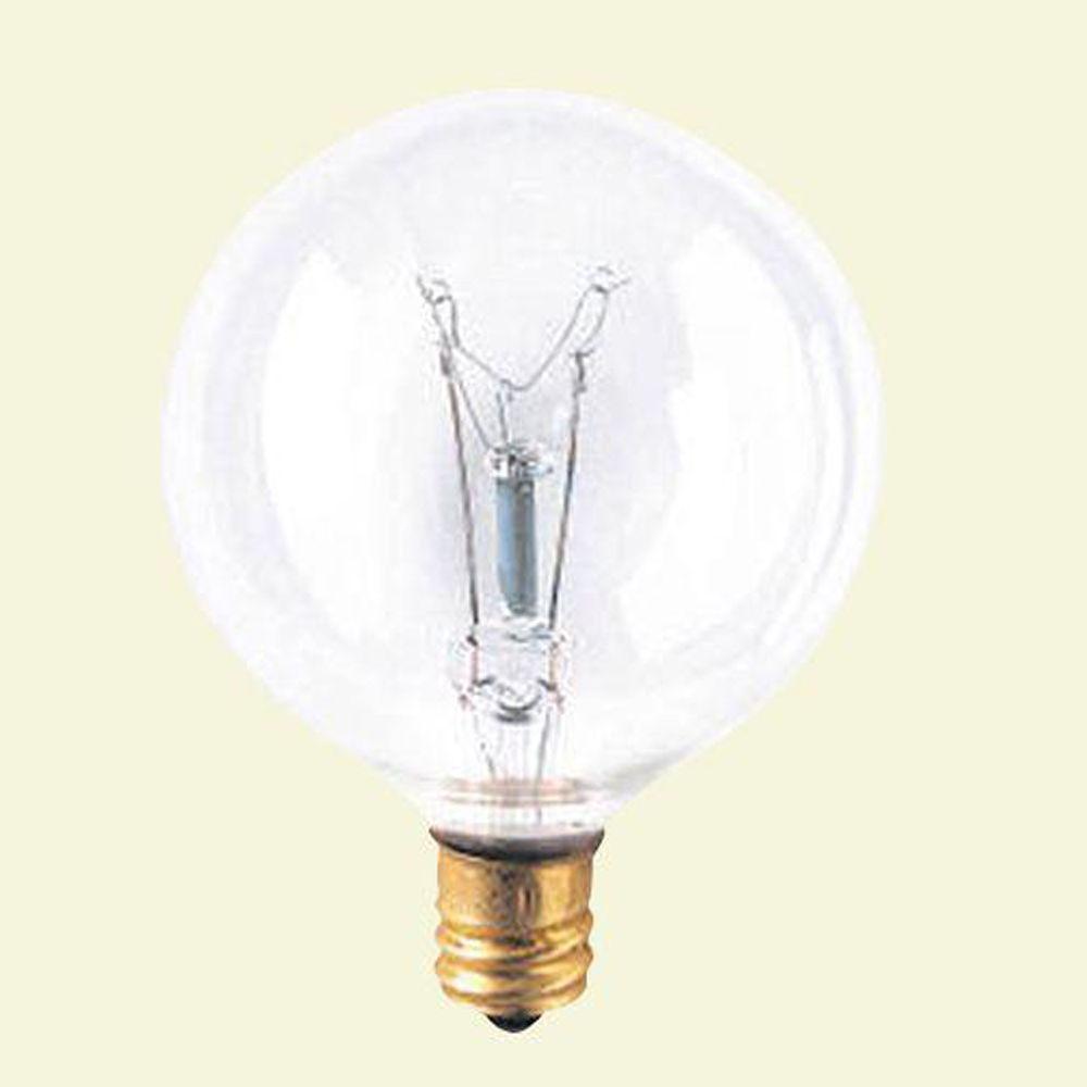 Bulbrite 60-Watt Incandescent G16.5 Light Bulb (25-Pack)