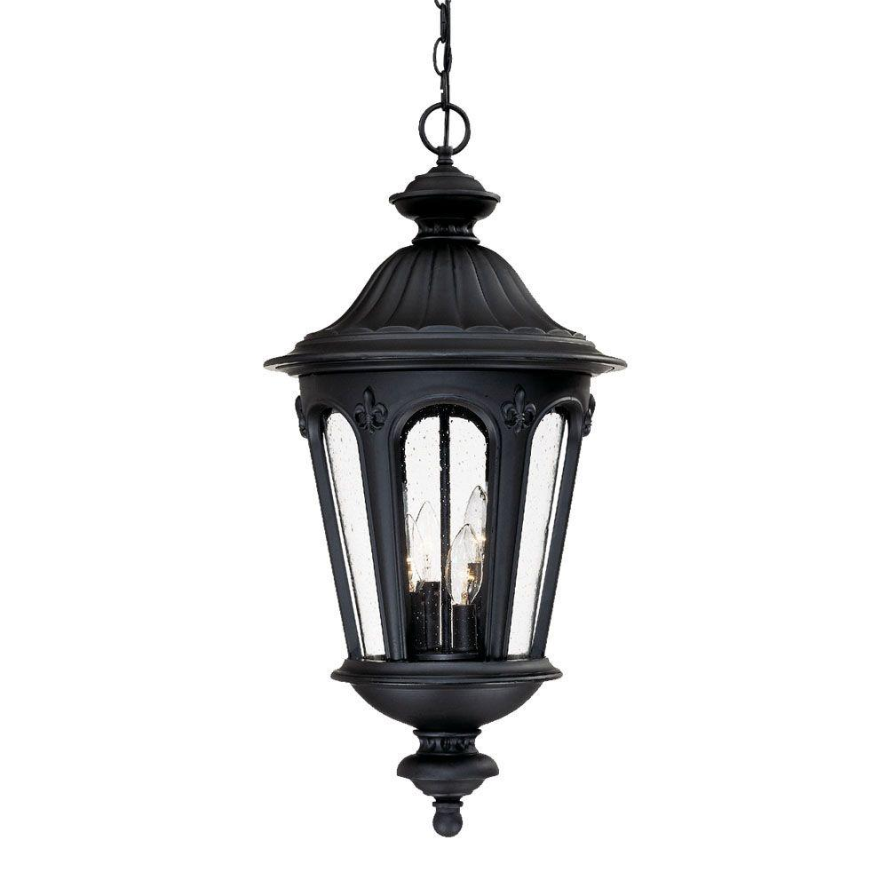 Acclaim Lighting Marietta Collection 4-Light Hanging Outdoor Matte Black Light Fixture