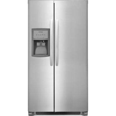 33 in. 22 cu. ft. Side by Side Refrigerator in Stainless Steel