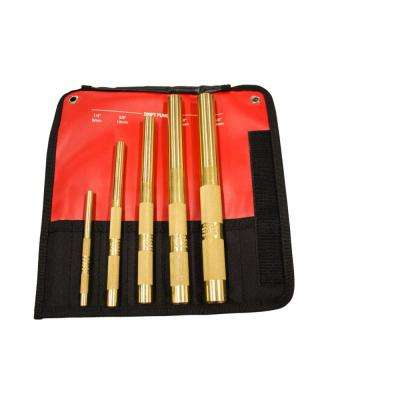 Brass Drift Punch Set (5-Piece)