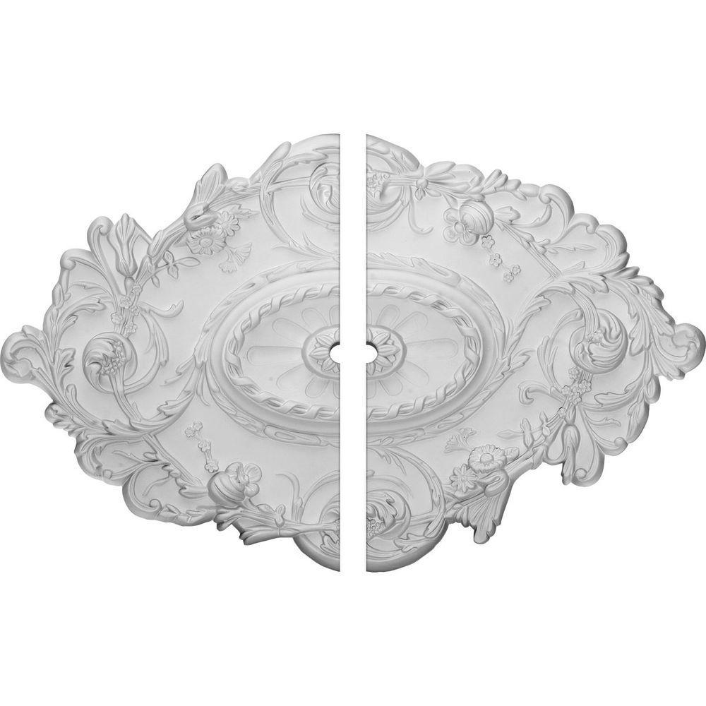 30-1/2 in. W x 20 in. H x 1-1/2 in. P Strasbourg Ceiling Medallion (2-Piece)