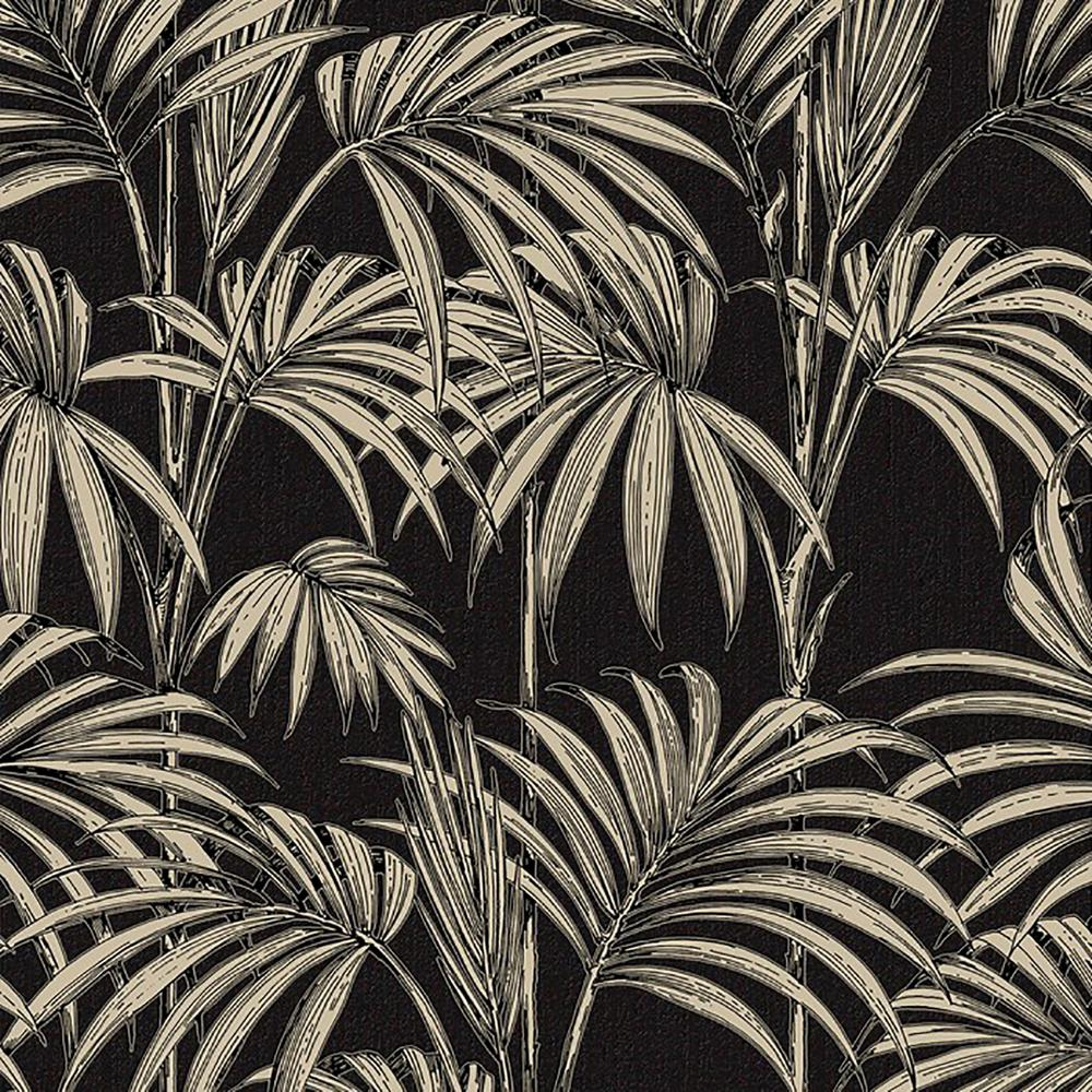 Graham Brown Black And Gold Honolulu Wallpaper