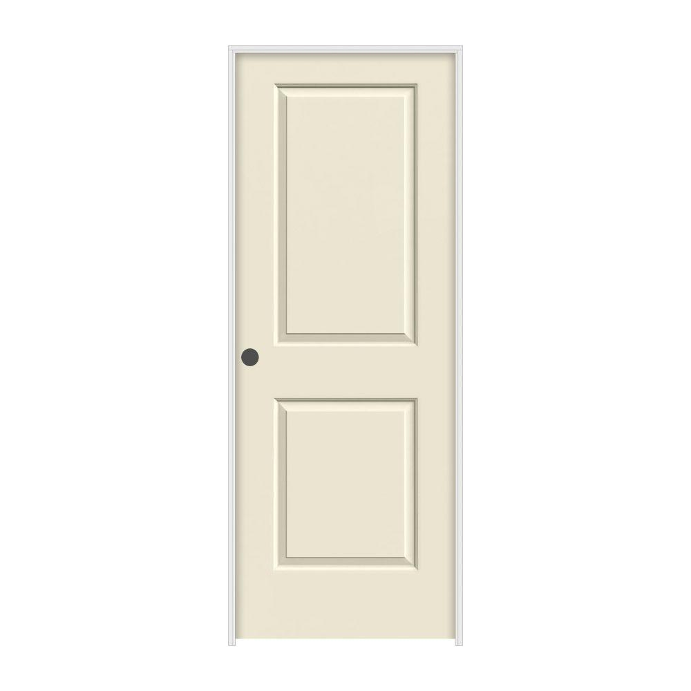 JELD-WEN 24 in. x 80 in. Cambridge Primed Right-Hand Smooth Solid Core Molded Composite MDF Single Prehung Interior Door