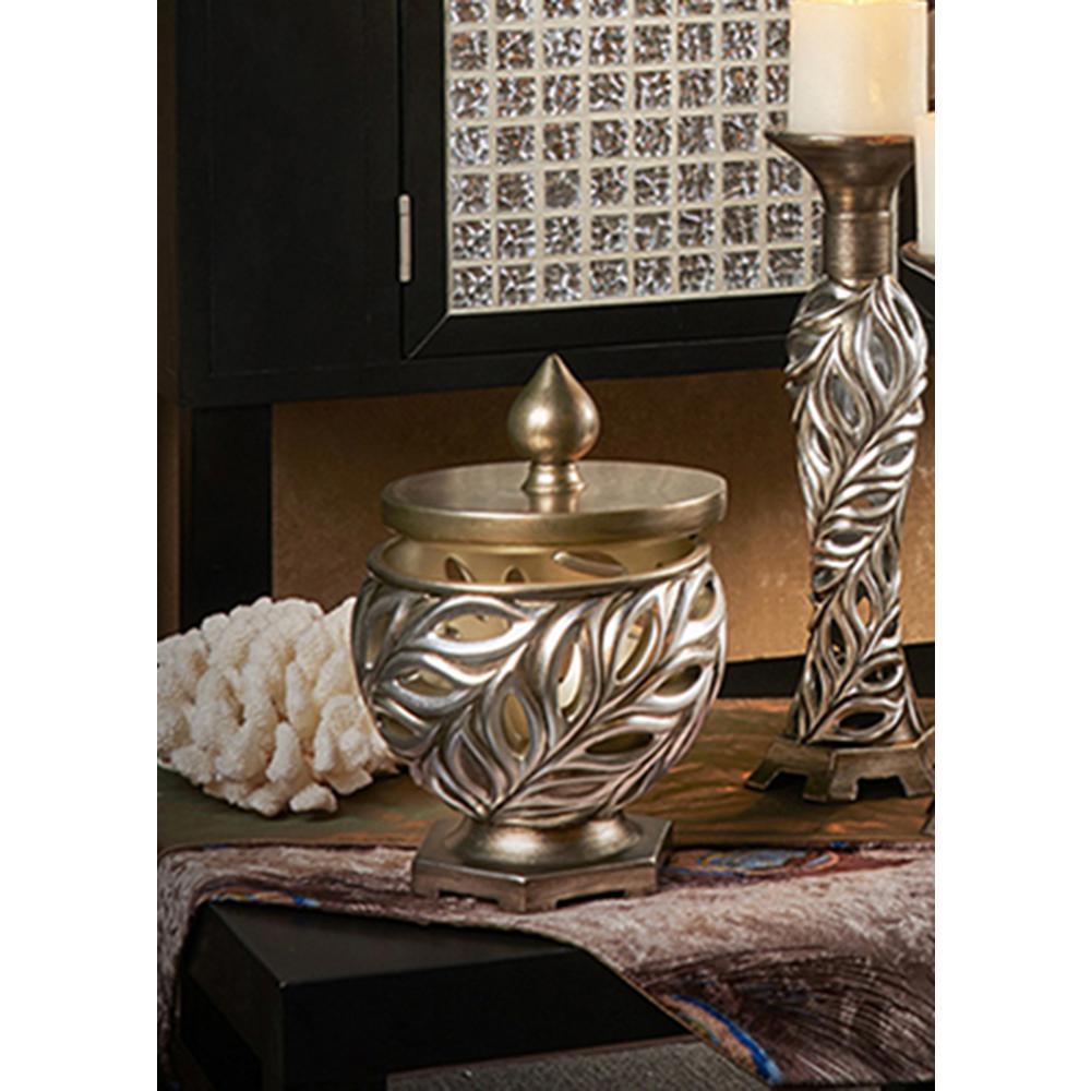 10 in. Kiara Silver Decorative Box