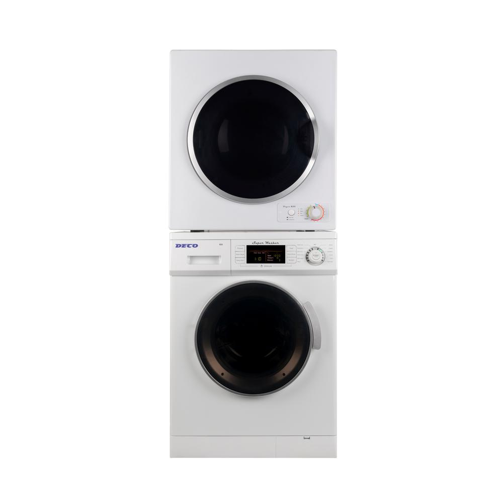 Laundry Center White 1.57 cu. ft. Super Washer and 3.5 cu.
