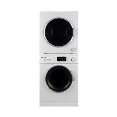Super Washer and Electric Dryer in White in Stainless Steel