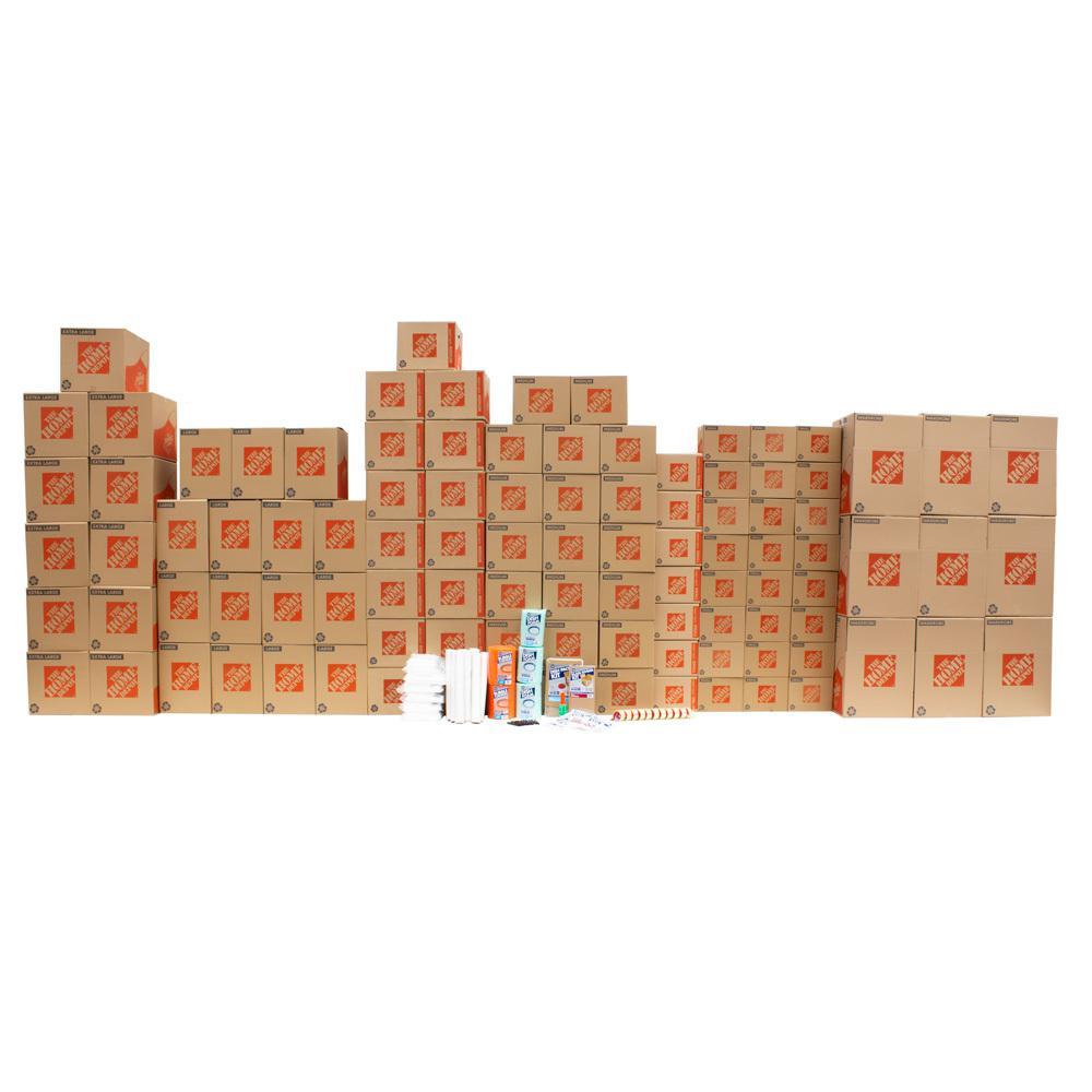 The Home Depot 97-Box 4 Bedroom Moving Box Kit