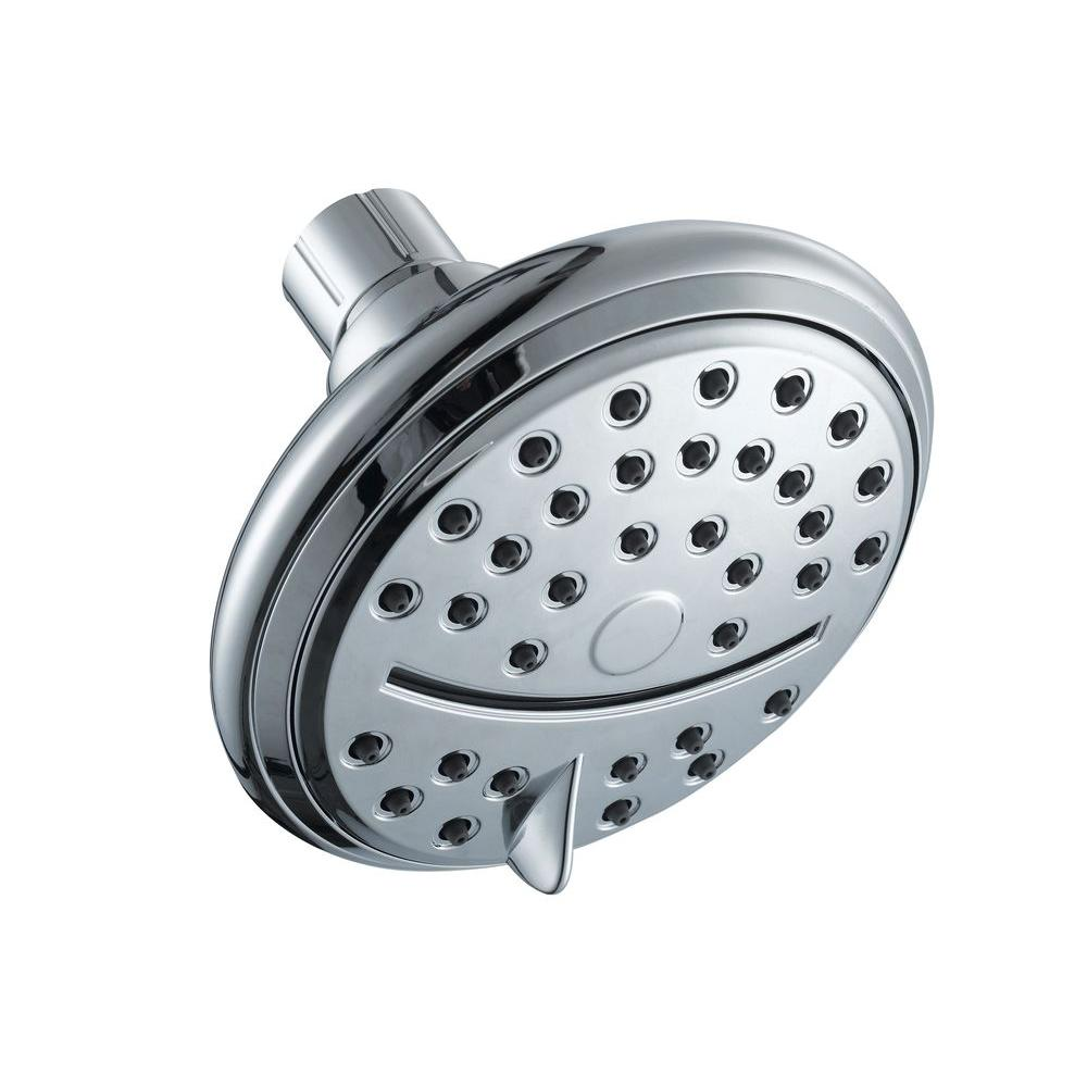 Glacier Bay 4-Spray 4 Function Showerhead with Drenching Feature in Chrome
