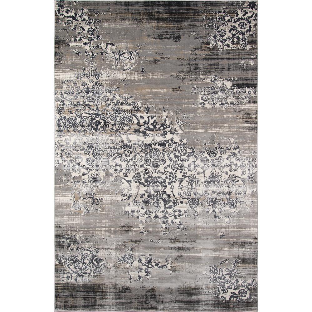 Juliet Grey 9 ft. x 12 ft. Indoor Area Rug