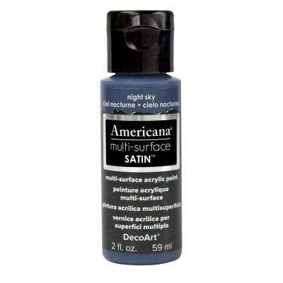 Americana 2 oz. Night Sky Satin Multi-Surface Acrylic Paint