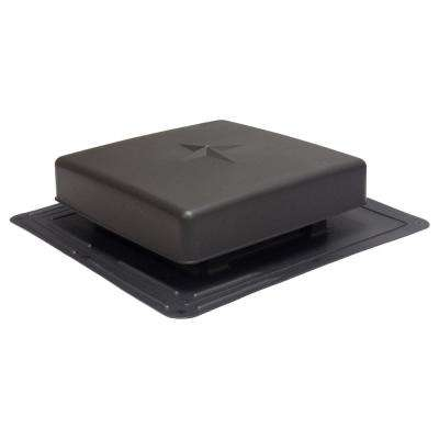 61 sq. in. NFA Plastic Square-Top Roof Louver Static Roof Vent in Black (Sold in Carton of 10 only)