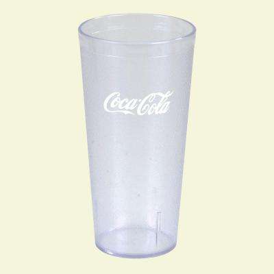 20 oz. SAN Plastic Stackable Tumbler in Clear with Coca Cola logo imprint (Case of 72)