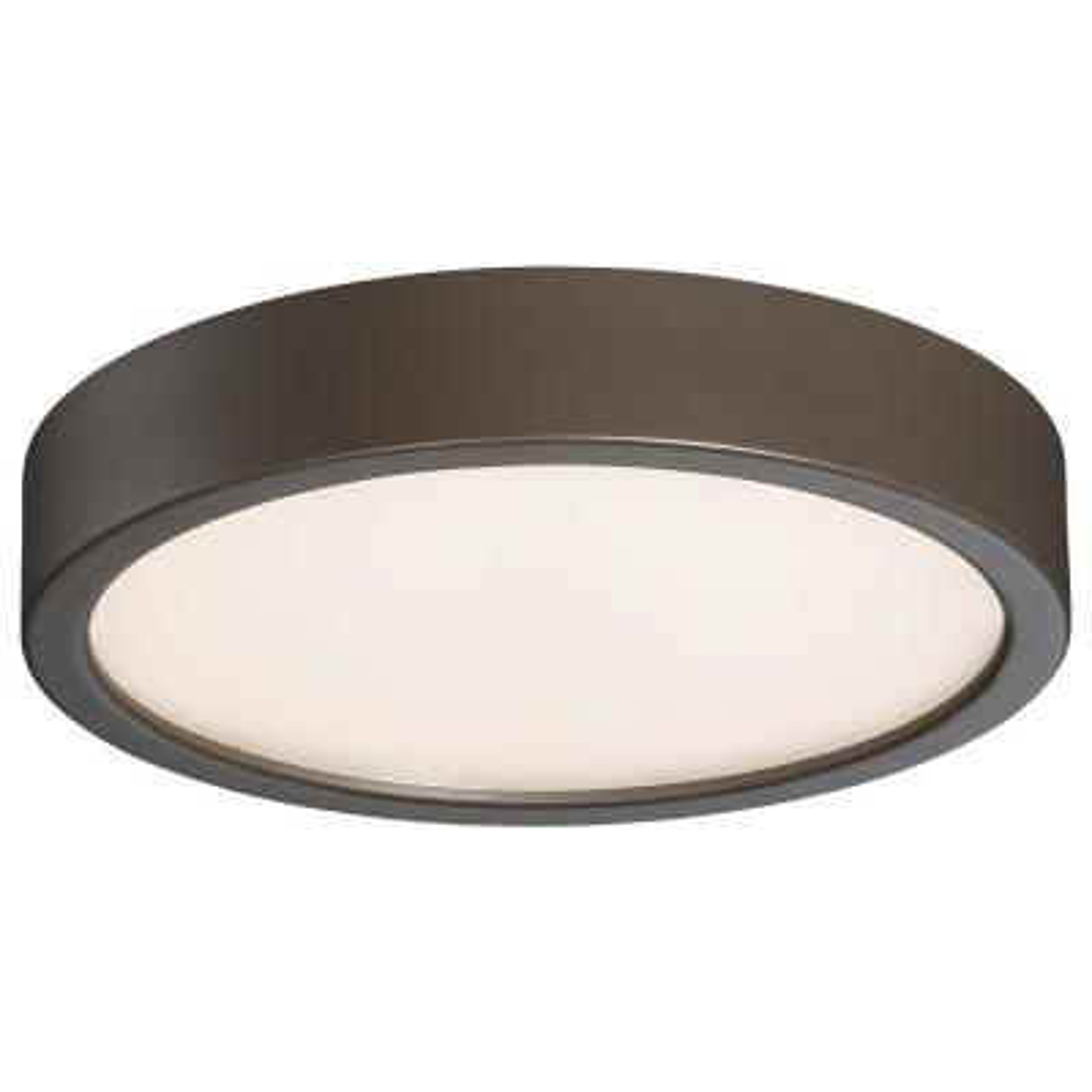 60-Watt Equivalent Painted Copper Bronze Patina Integrated LED Flush Mount