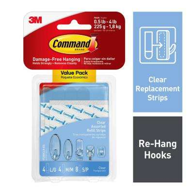 Clear Assorted Refill Strips (16-Pack)