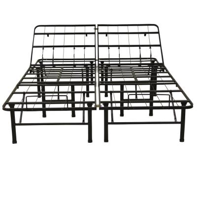 Hercules King-Size 14 in. H Adjustable Heavy Duty Metal Platform Bed Frame