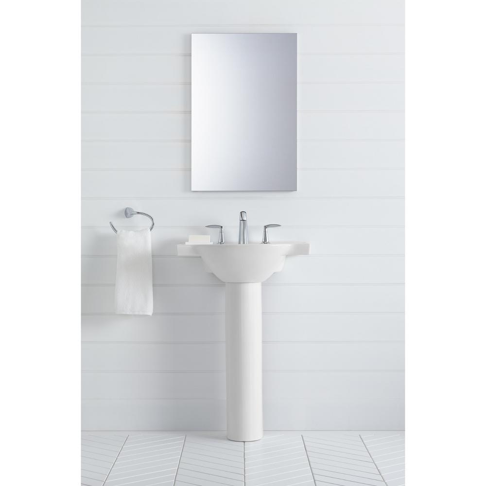 Kohler Veer 24 In Vitreous China Pedestal Sink Basin In White With Overflow Drain K 5248 8 0 The Home Depot
