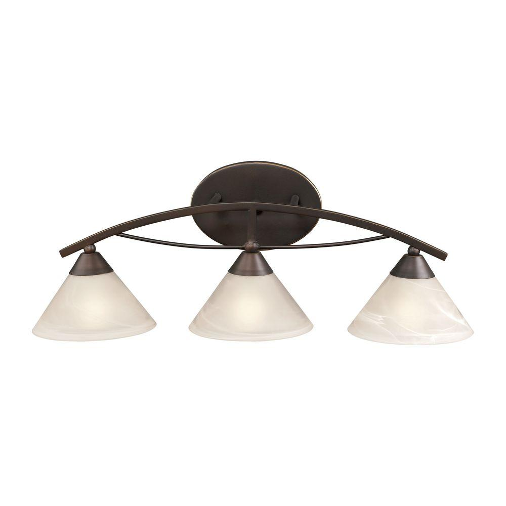 Elysburg 3-Light Oil Rubbed Bronze Vanity Light