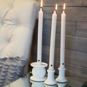 Click here to buy Colonial Candle 12 inch White Classic Taper Candles (Set of 12) by Colonial Candle.