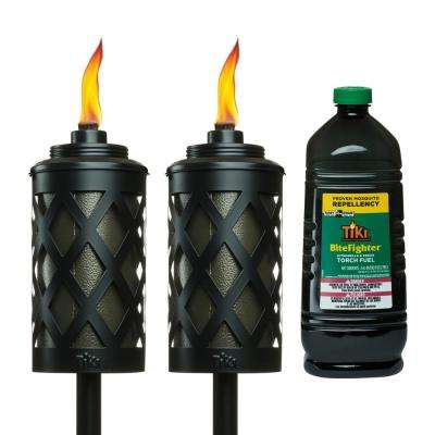 Urban Metal Bundle - 2X 65 in. Urban Metal Bronze Torches and 100 oz. BiteFighter Easy Pour Fuel