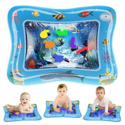 20 in. x 23 in. Baby Water Play Mat Tummy Time Inflatable Splashing Playmat for Infant and Toddlers