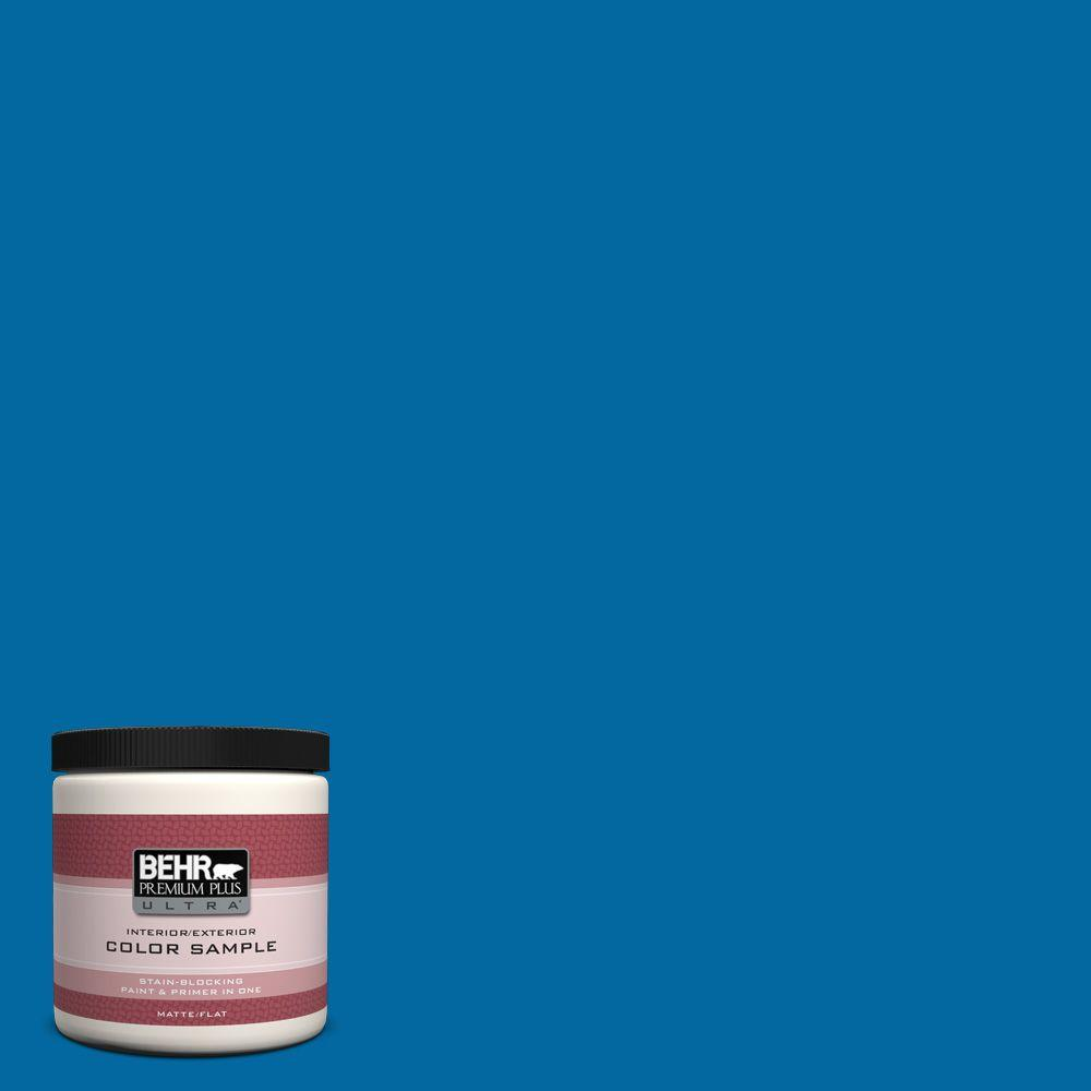 BEHR Premium Plus Ultra 8 oz. #S-G-560 Jazz Blue Interior/Exterior Paint Sample