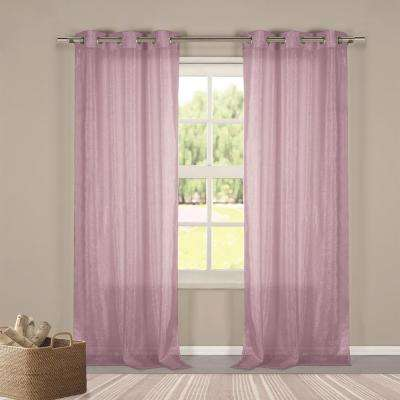 Metallico 40 in. W x 84 in. L Polyester Window Panel in Purple