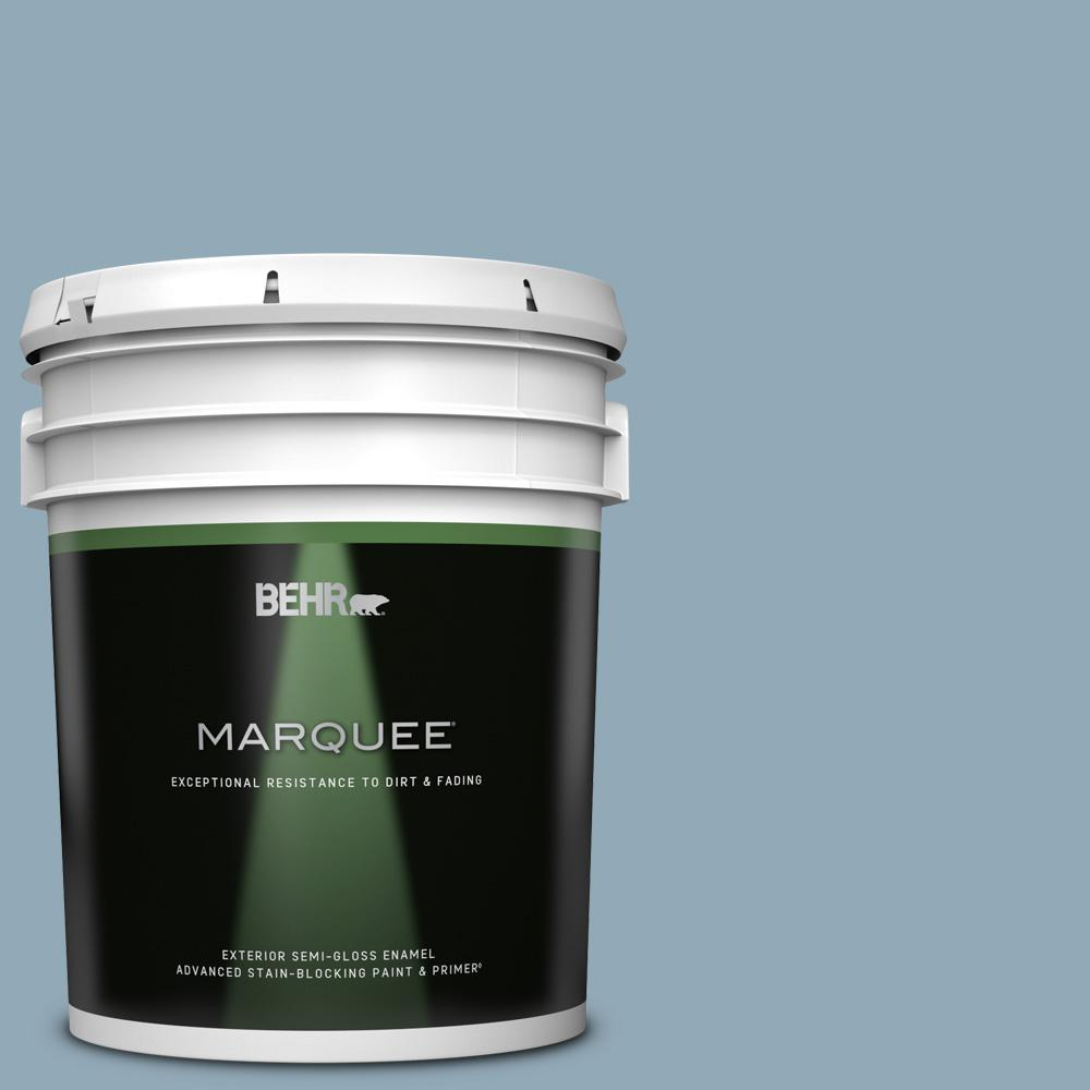 Reviews For Behr Marquee 5 Gal Ppu14 09 Windsurf Semi Gloss Enamel Exterior Paint Primer 545405 The Home Depot
