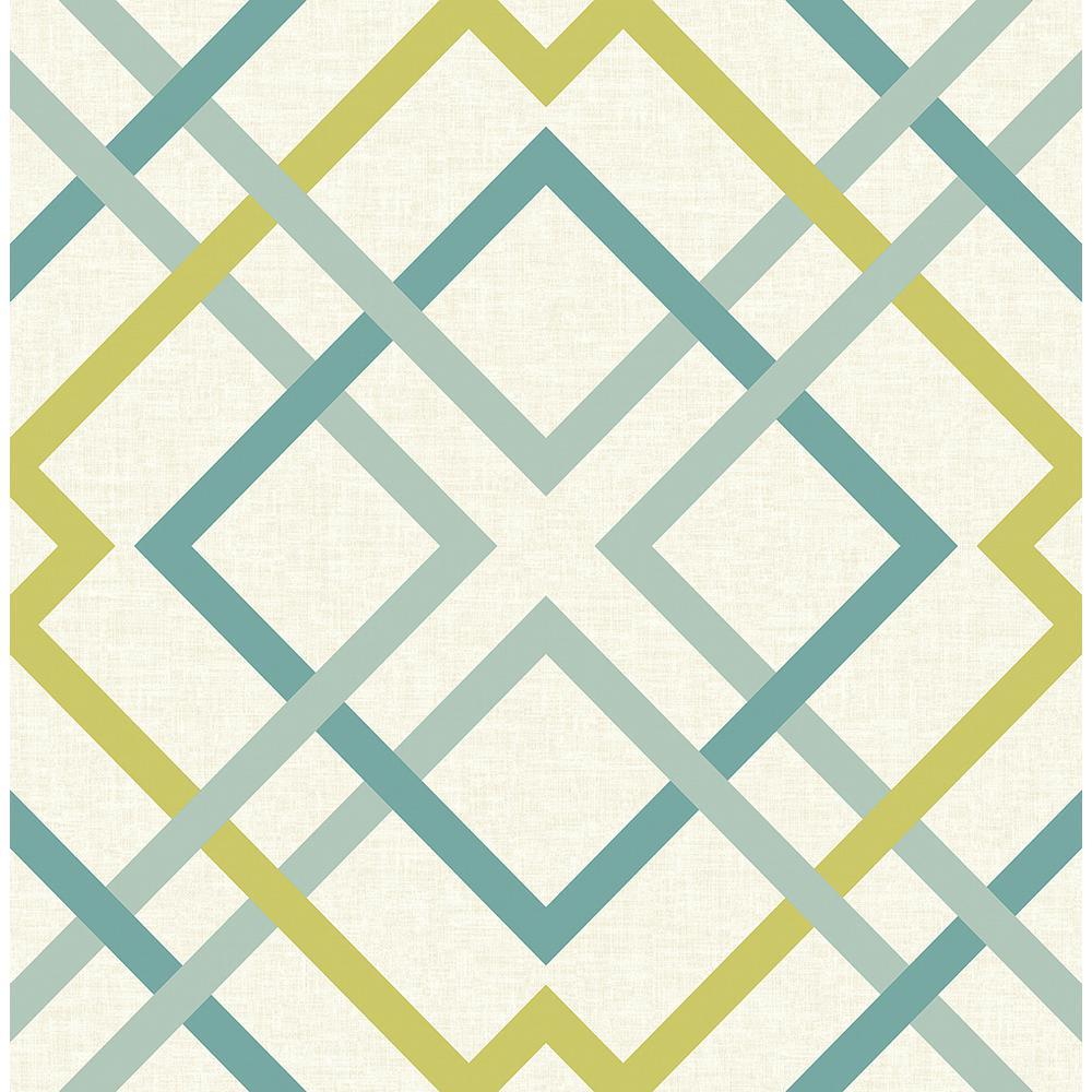 Saltire Green Lattice Wallpaper