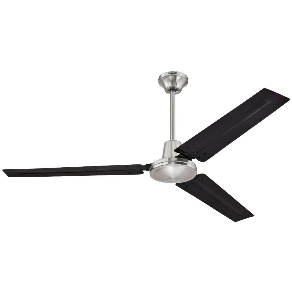 Industrial 56 in. Indoor Brushed Nickel Ceiling Fan