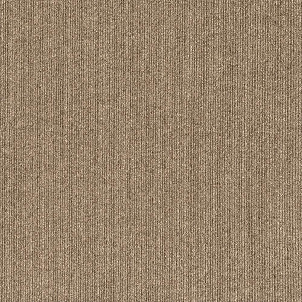 Foss Contender Single Rib Taupe 24 in. x 24 in. Commercial Peel and Stick Carpet Tiles (15 Tiles/Case)