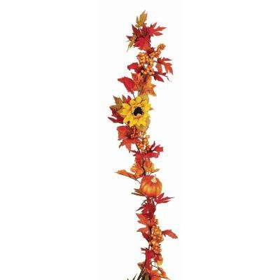 60 in. WP Gourd Berry Floral Garland