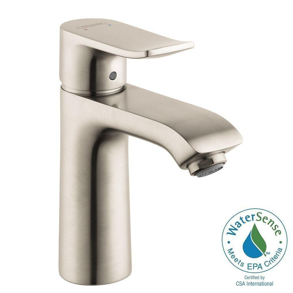 Hansgrohe Metris Single Hole 1-Handle Low-Arc Bathroom Faucet in ...