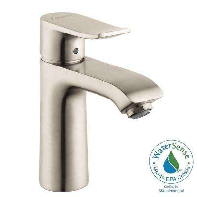 Metris Single Hole 1-Handle Low-Arc Bathroom Faucet in Brushed Nickel