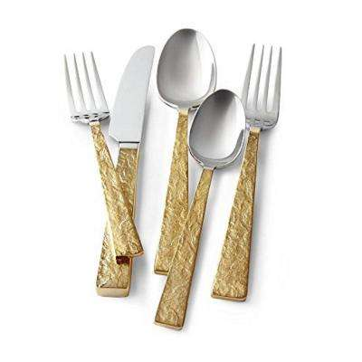 Gold Smoke 5-Piece Place Setting