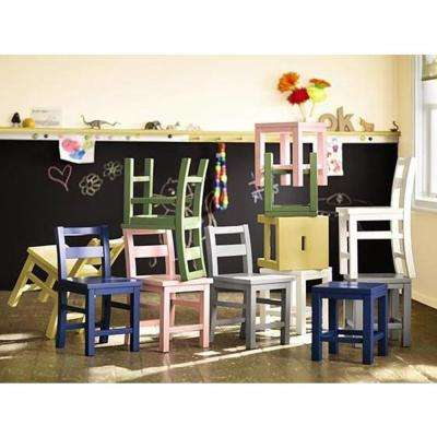Kids 26 in. H Picket Fence Craft Armless Chair