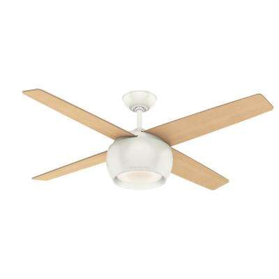 Valby 54 in. LED Indoor Fresh White Ceiling Fan with Light and Wall Control
