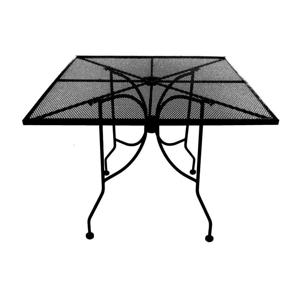 Arlington House 36 in. Square Commercial Grade Micro Mesh Patio Umbrella Table-DISCONTINUED