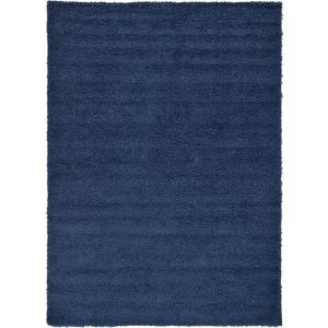 Solid Shag Sapphire Blue 7 ft. x 10 ft. Area Rug