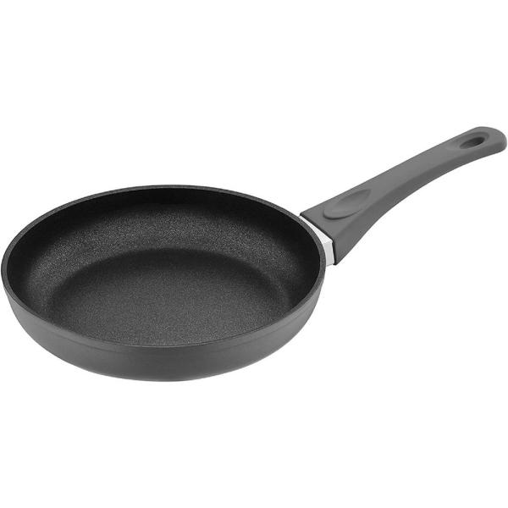 8 in. Titanium Coated Aluminum Non-Stick Frying Pan in Gray