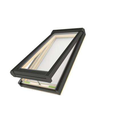 22-1/2 in. x 26-1/2 in. Electric Venting Deck-Mounted Skylight with Laminated Low-E366 Glass