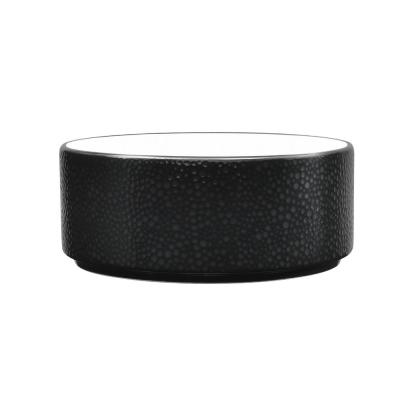 Colortex 6 in. 20 oz. Stone Black Cereal Bowl