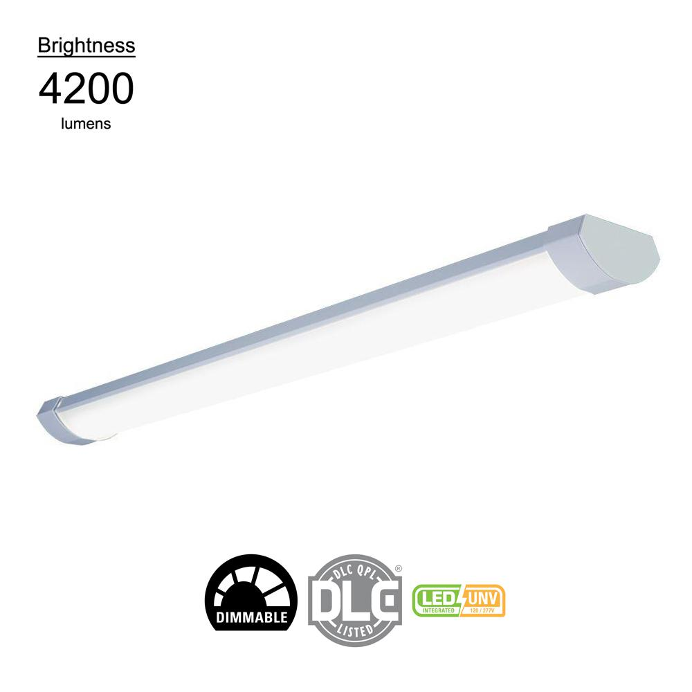 4 ft. 64-Watt Equivalent White Contoured Low Profile Linear Integrated LED