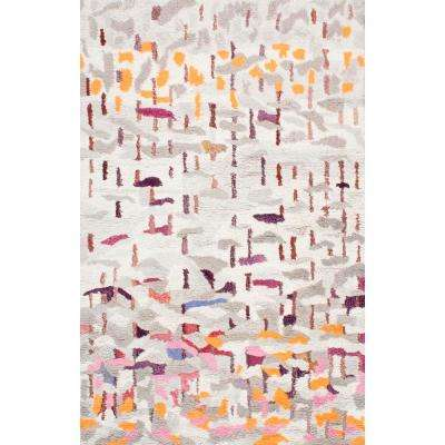 Abstract Shiloh Shaggy Multi 5 ft. x 8 ft. Area Rug
