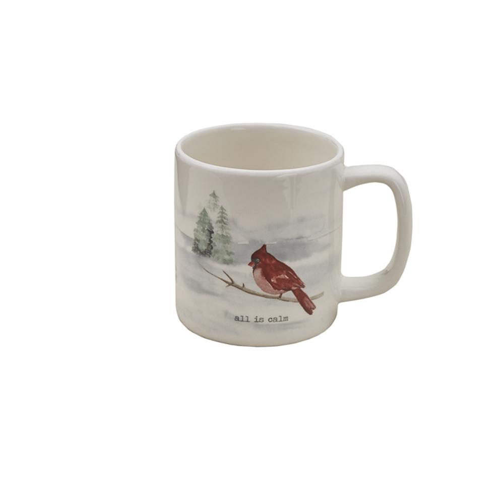 Winterland Calm 16 oz. Multicolor Ceramic Coffee Mug (Set of 4)
