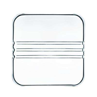 Cigar Collection Clear Square Crystal Cuba Ashtray