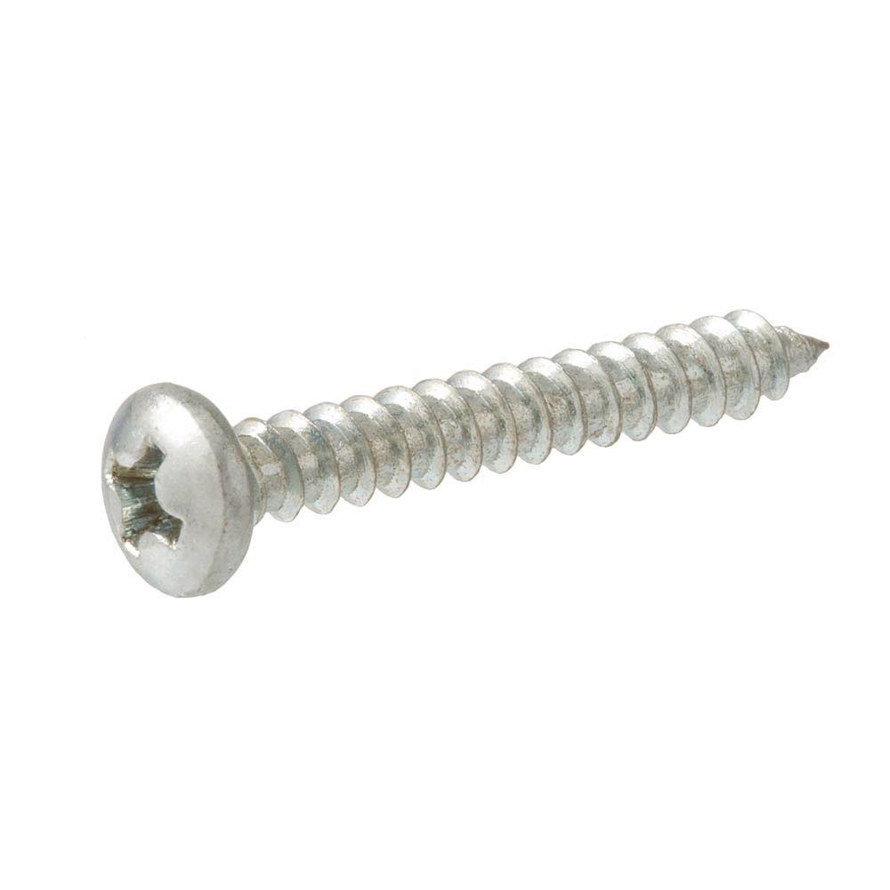 #8 x 1-1/2 in. Zinc-Plated Steel Pan-Head Phillips-Drive Sheet Metal Screws (100-Pack)