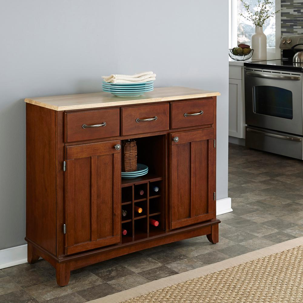 Cherry and Natural Buffet with Wine Storage